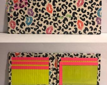 Cheetah Kisses Duct Tape Bifold Wallet