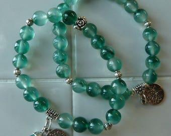 jade aqua 8mm bracelet