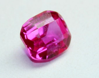 10X9X6 mm Natural Cushion Shape Faceted Cut Transparent Pink Sapphire Loose Gemstone New Year PP 2