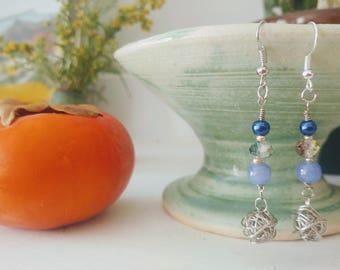 Blue Nest Earrings