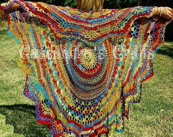 Crochet Bohemian Vest Many Color Choices and Length Options Avaliable Made To Order Check Photos For Color Options Length Pictured is 70x70