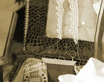The Seamstress in Sepia Photograph  Photography by Colleen Cornelius Bring the Outdoors In Zen Home Decor