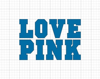 Love Pink Solid - Iron On Vinyl Decal Heat Transfer