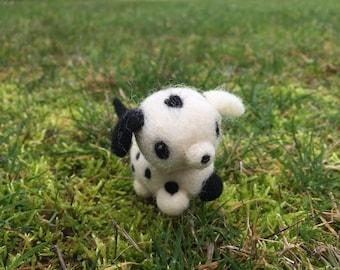 Needle Felted Miniature Dalmation Spot the Dog Pet Figurine