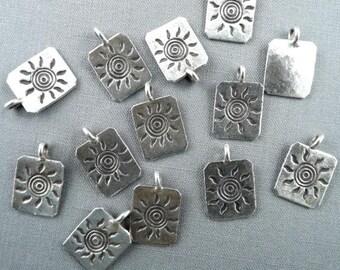 Karen HIll Tribe Silver Sun Design Pendant Pure Silver Destash #17-001