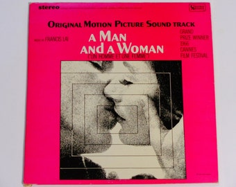A Man and A Woman - Original Motion Picture Sound Track - Frances Lai - Original Stereo United Artist 1966  - Vintage Vinyl LP Record Album