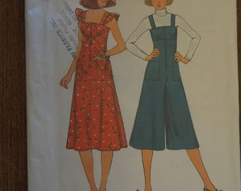 Siimplicity 8024, size 10, misses dress or pantdress, jumpsuit, UNCUT sewing pattern, craft supplies