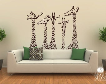 Nursery Giraffe Wall Decals - Giraffe Family Wall Stickers Custom Home Decor