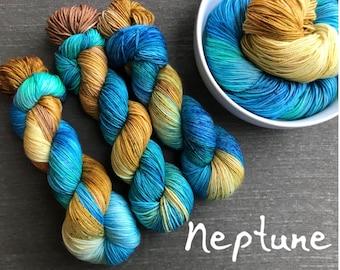 Neptune - Hand Dyed Superwash Sock Yarn
