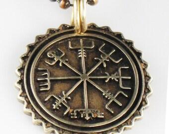 Viking Nautical Compass Mariner Pendant - Mariner Vegvisir Compass Pendant Necklace - Vegvisir Key Ring Compass Gift -Nordic Viking Vegvisir