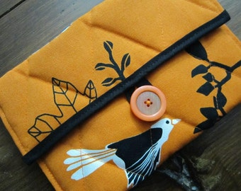 Kindle Case - Kindle Cover - Ebook Reader - Kobo - Nook - iPad -Tablet - Padded - Quilted - Birds