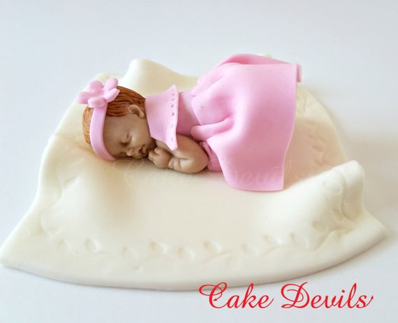 sleeping baby cake topper