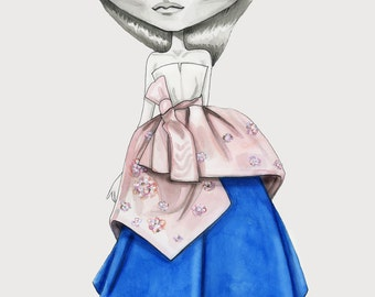 DelPozo SS2016 fashion illustration Giclee Print