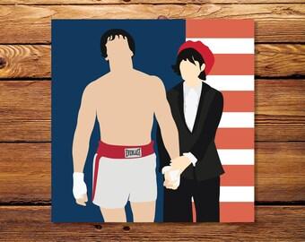 """Rocky & Adrian - 8""""x8"""" Giclee Print"""