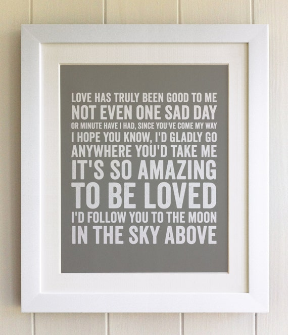 FRAMED Lyrics Print Luther Vandross So Amazing 20 Colours