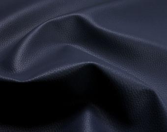 Fabric PVC nappa deep blue leatherette 22.000 Martindale marine