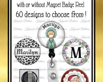 Interchangeable Badge Reel, Magnet Badge Reel, Badge Reel Tops , Retractable Badge Reel, Medical Gifts, Teacher Gifts, Stocking Stuffer