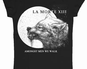 Amongst Men, We Walk. T-Shirt (Women's Style/Cut) (LoneWolf)