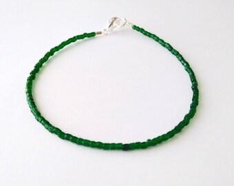 Emerald bracelet bracelet femme seed bead bracelet dainty bracelet minimalist bracelet beaded bracelet simple bracelet anklet ankle bracelet