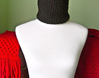 The Lindsey Neck Warmer - Luxurious Hand Crochet Merino Wool Scarf