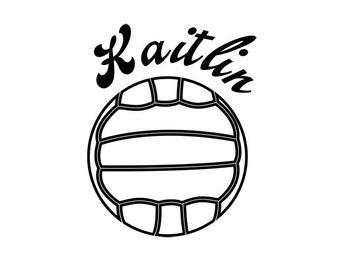 Volleyball vinyl decal