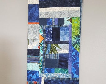 Quilted Blue Patch Wall Hanging