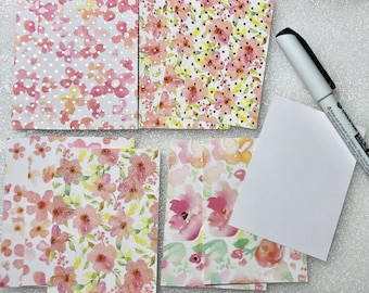 10 floral card back background for ATC / ACEO / Kakaokarten Blanks pre-cut
