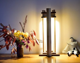 Design luxury lamp, to put, wooden massive, lighting LED YAMBOLA