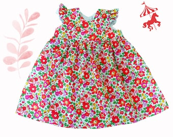 Dress ruffled Liberty® Grenadine