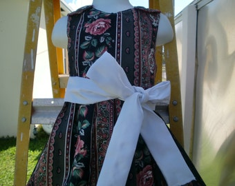 OOAK Dress/ Jumper in Roses and Lace