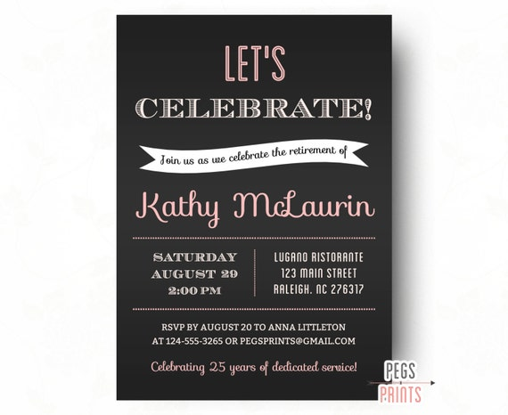 Retirement Party Invitation // Retirement Party Invites //