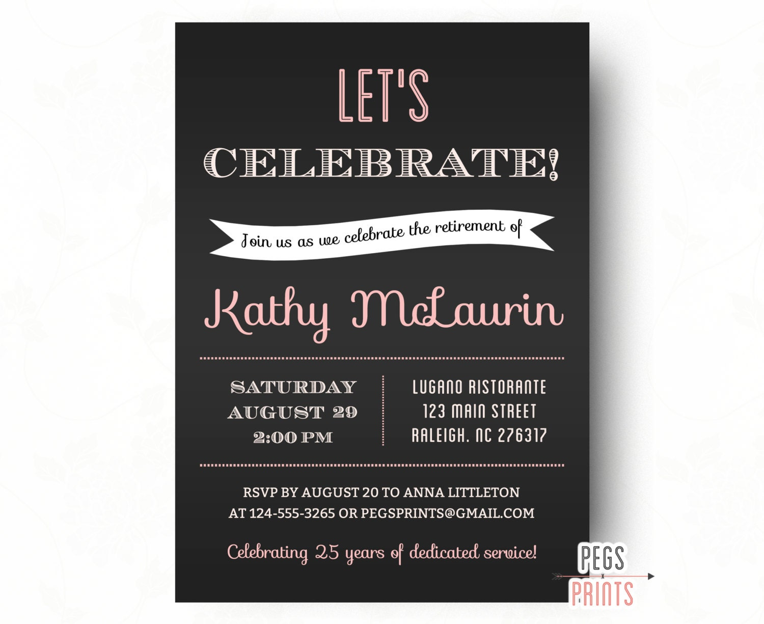It's just a graphic of Satisfactory Printable Retirement Invitation