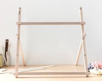 """Adjustable Sized Weaving Loom, Large Loom on stand, Weaving Loom, Weaving Kit, Frame Loom, Tapestry Loom 30"""" x 30"""""""