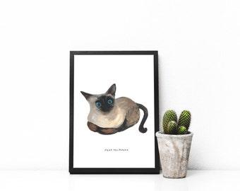 Cat Series 009, Cat Art, Cat Painting, Cat Printable, Cat Wall Decor, Cat Home Decor, Cat Frame Art, Cat Illustration, Cat Print, Artwork