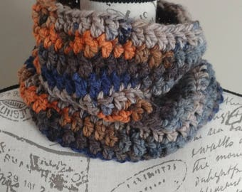 Hailey Cowl, Made to Order Crocheted Cowl, Women's Cowl, Men's Cowl