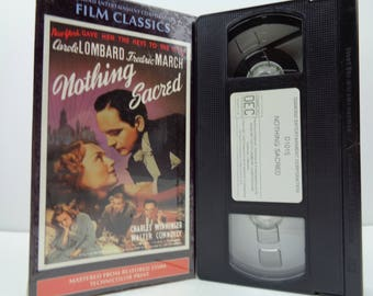 Nothing sacred VHS Tape