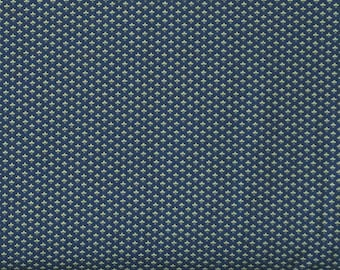 Tiny Green Floral Design on Navy Blue Background 100% Cotton Quilt Fabric, Evelyn by Whistler Studios for Windham Fabrics, WIF41988-1