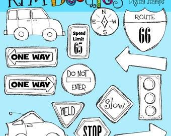 KPM Road Trip Digital Stamps