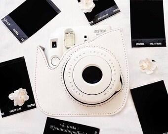 "Leather Camera Strap Bag ""POLA""  Shoulder Strap Bag for Polaroid Fujifilm Mini 8 Instax Sac Sale"