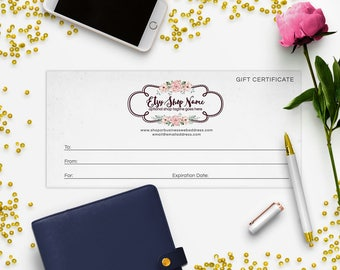 Gift Certificate Printable - Gift Certificate Download - Printable Gift Certificate  Logo Style - 2-16IL b