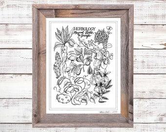 "DIGITAL DOWNLOAD Harry Potter ""Herbology"" Print - Harry Potter Art - 5x7, 8x10, 11x14"
