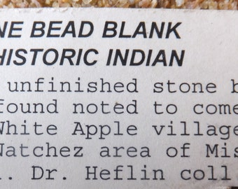 Ancient Stone Bead Blank