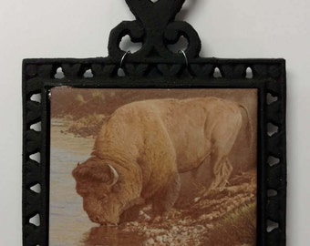 Iron Trivet with Tile, 2 styles