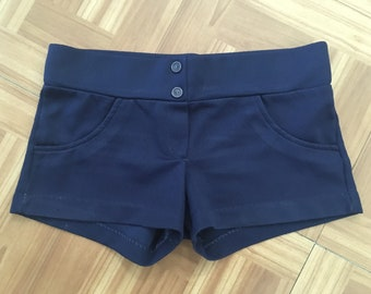 1970s Frederick's of Hollywood Polyester Hip Hugger Short Shorts (Size Small) • Vintage Shorts
