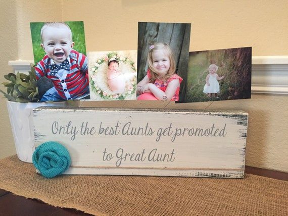 Great Aunt frame gift Personalized picture frame board aunt