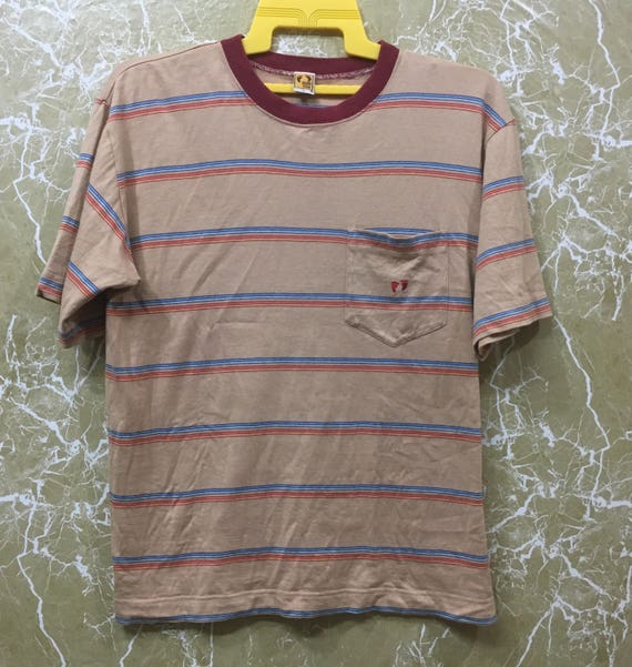 Vintage Hang Ten shirt vintage Hang Ten Skate Surf Surfir Hawaii Stripe T Shirt Rare L size Qfhy5