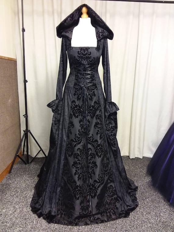gothic dress black medieval dress prom gown renaissance. Black Bedroom Furniture Sets. Home Design Ideas