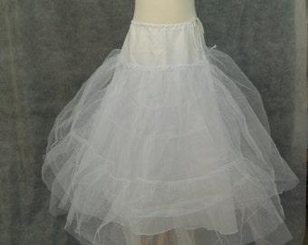White Crinoline Girls - tulle crinolines for long dresses