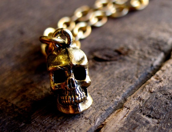 Brooklyn Charm Presents - GOLD - SKULL - BRACELET -