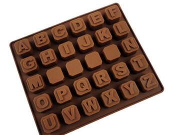 Alphabet ABC Silicone Soap, Ice Cube, Chocolate or Candy Mold Baking Supplies